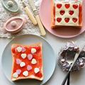 一番簡単❤パパへ❤バレンタインモーニング【#子ども #簡単 #朝ごパン #バレンタイン】 by 青山 金魚さん