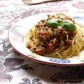 <スパイスで美味しいミートソース(バジル・オレガノ・タイム・ローレル)>