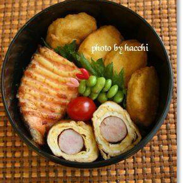 鮭のマヨ焼き&ウィンナー入り卵焼き
