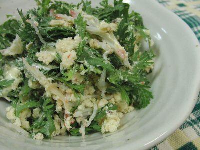 春菊のお気に入りレシピが増えた♪ おからと春菊のサラダ