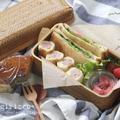ホットサンド弁当~Hot Sandwich bento(Potate salad&Wiener)