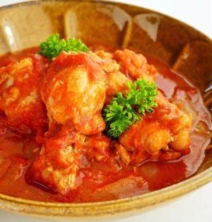 炊飯器で作る♪鶏手羽元のトマト煮