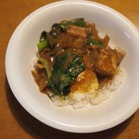 小松菜と厚揚げの和風カレー