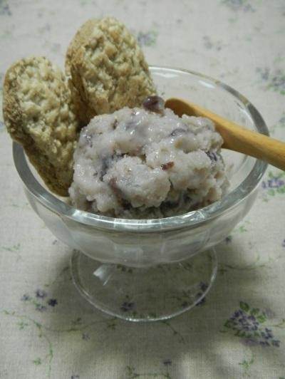 塩味が美味い★塩麹入り小豆ミルクアイス