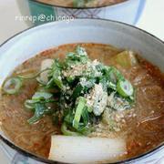 春雨入りピリ辛 ごま味噌スープ