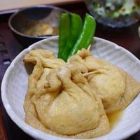 油揚げのひき肉詰め煮物 鶏肉と白菜と大根煮