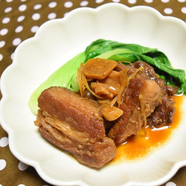 牛バラの角煮。にんにくとしょうがたっぷりで体温まる冬のおつまみ。