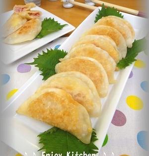 【簡単!おつまみ】餃子の皮で!ハムチーズサンド焼き