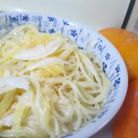 柿と玉ねぎのサラダスパゲティ♪