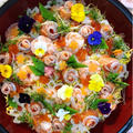 お花畑ちらし寿司〜ひな祭りの覚書〜ご自由にどうぞ形式で楽しいおやつ時間