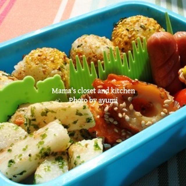幼稚園のお弁当*長芋のフライ のり塩味