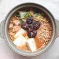 とり野菜鍋(白菜、鶏もも、椎茸、えのき、豆腐)