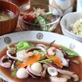 海鮮八宝菜 と くらげの酢の物。