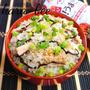 生姜香る♪鯖缶と塩こんぶの旨味たっぷり炊き込みご飯