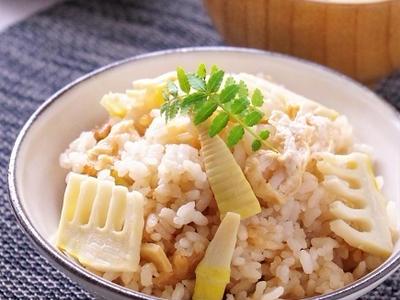>中華風たけのこご飯と、木の芽の保存 by 高羽ゆきさん