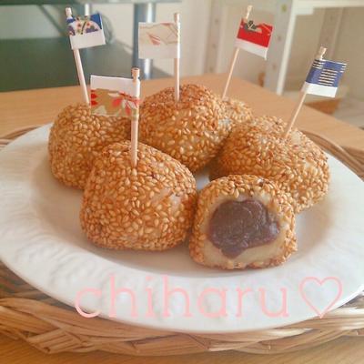 【もちもち♡】【簡単】美味しいお豆腐ごま団子♡の作り方