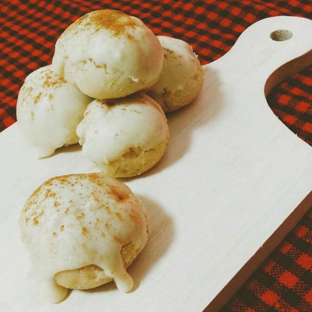 ポリ袋で作る、シナモンとホワイトチョコのスノーボールクッキー【とりあえず簡単】