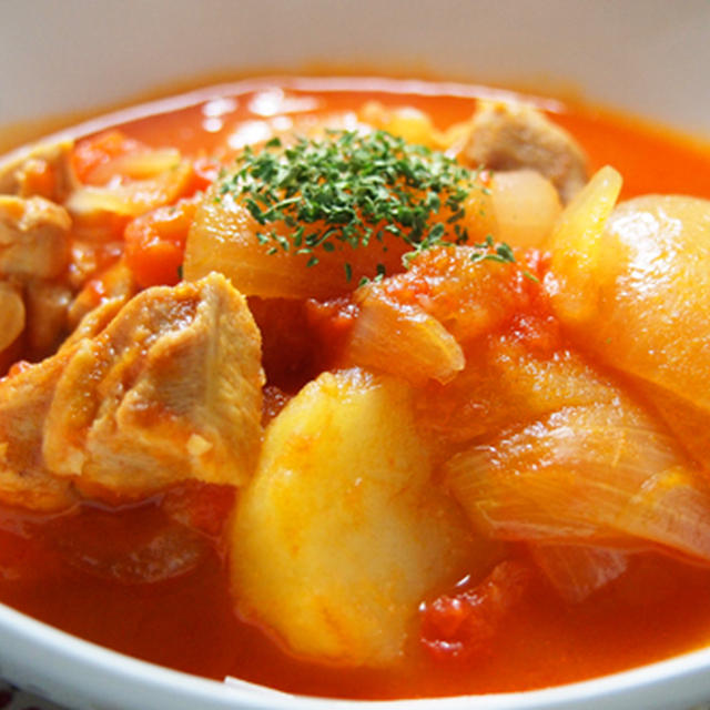 簡単!チキンのトマトスープの巻