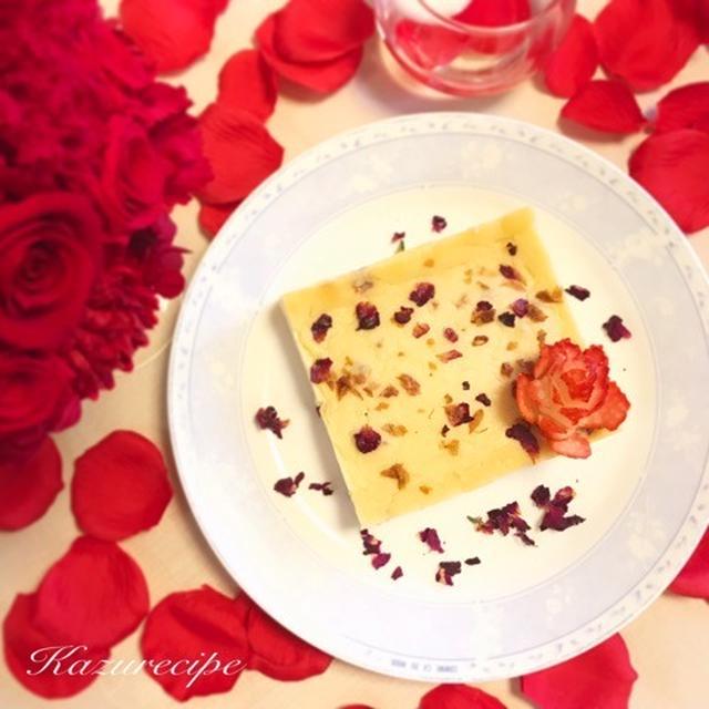 ☆レシピ☆ ローズのホワイトチョコチーズケーキ