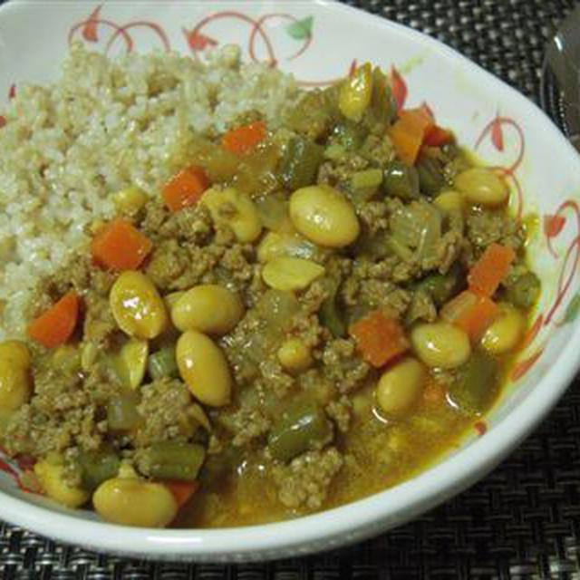 激うまキーマカレー・○秘テクを使って、玄米ご飯でヘルシーに!