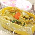 卵と野菜チップスの甘辛炒め