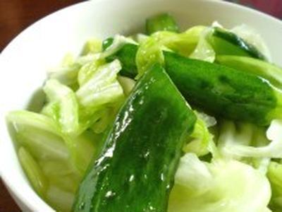 きゅうりとキャベツの浅漬け~夏バテ&胃腸強化~【健康レシピ】