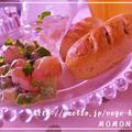 ホットケーキミックスで【発酵なしスイートポテトパン☆シナモン風味】141kcal☆ サワークリーム添え by MOMONAOさん