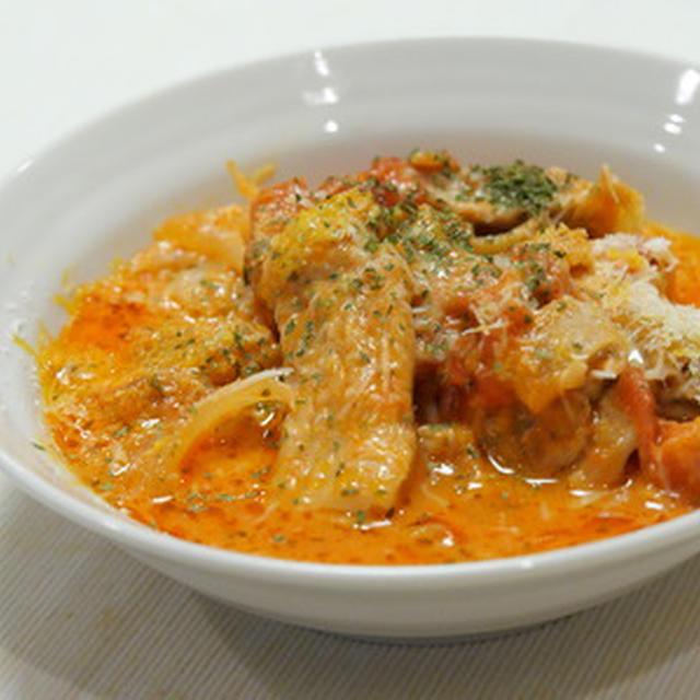 進化し続ける、鶏のトマト煮。生クリーム、白ワイン、キャベツ入りでさらに美味にレシピ