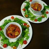 バスク風鶏肉のトマト煮・リース盛り☆スパイス大使☆