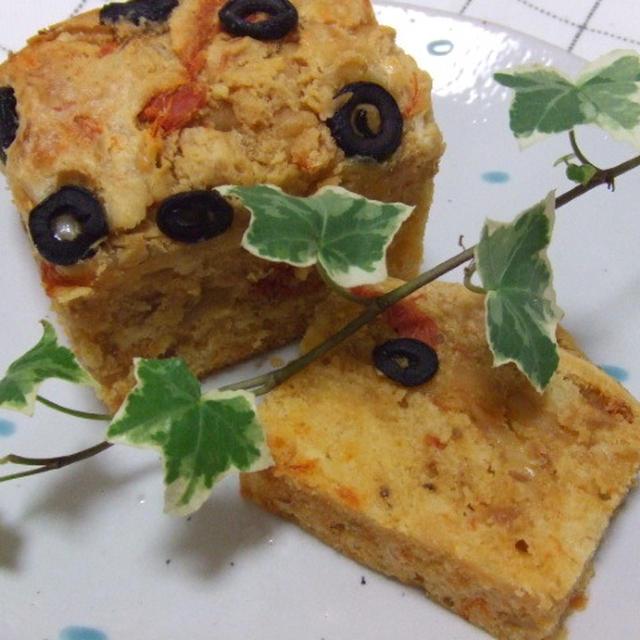 ケーク サレ トマトとツナのパウンドケーキ