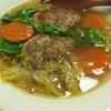 ミニハンバーグ入り白菜のスープ