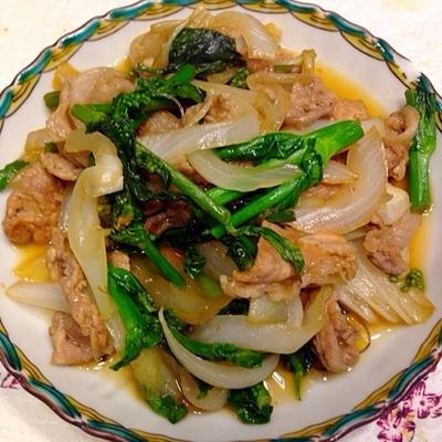 菜の花炒め Stir fried of rapeseed blossom