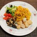 作る時間が足りない日の晩御飯☆炊飯器カレーピラフ♪☆♪☆♪