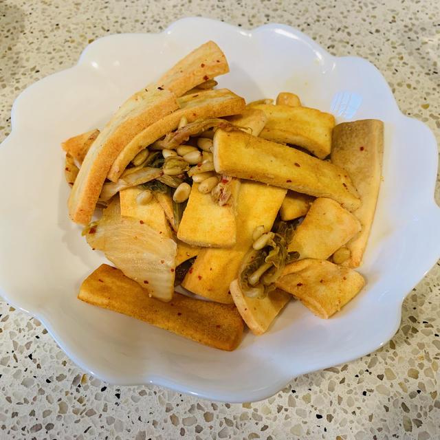 高野豆腐のキムチ和え