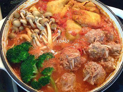 野菜高騰の強い味方♪切干大根の和風トマト鍋