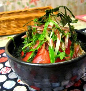 トマトと香味野菜のお浸し
