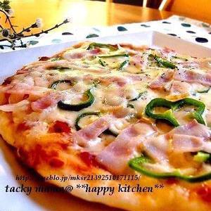 食べたいと思った時にすぐつくれる!発酵のいらないピザ生地レシピ