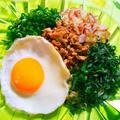 低糖質!エスニックそぼろと香味野菜の混ぜ麺