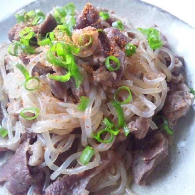 牛筋と糸こんの煮物