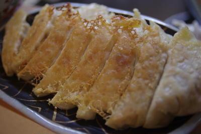 麻婆茄子と餃子の定食