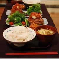 +凍り豆腐のおろしハンバーグ+