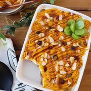 簡単すぎる!チーズクリームとかぼちゃのモンブランスコップケーキ(トムとキャサリン編)