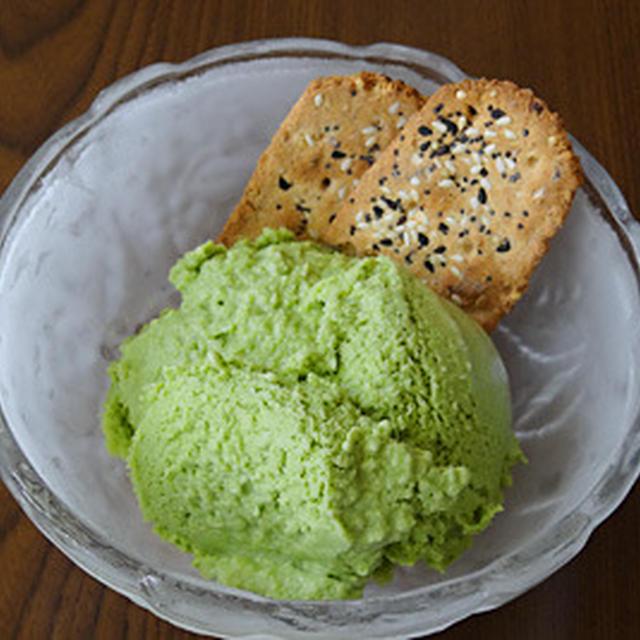 米粉の卵白豆乳抹茶アイスクリーム