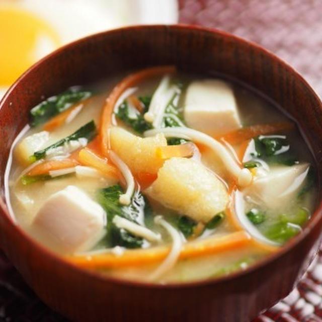 小松菜の具沢山味噌汁
