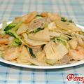 大皿で♪青梗菜の中華風焼そば☆生姜風味☆【マルちゃんで焼そばパーティー#5】
