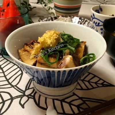秋刀魚の蒲焼き風丼♪