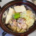 鶏豆腐なべ☆My朝昼ごはん