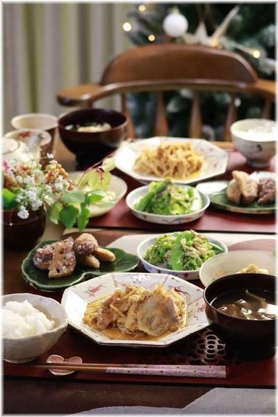 【レシピ】レンチンで速攻☆もやしと豚肉の味噌生姜蒸し。と 献立。と お夜食。