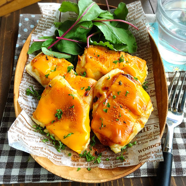 ♡火を使わずに♡トースターde鶏むね肉の味噌マヨチーズ焼き♡【#簡単#時短#節約#お弁当】