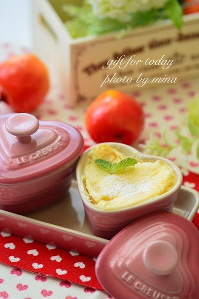 りんごのチーズケーキで爽やかな朝